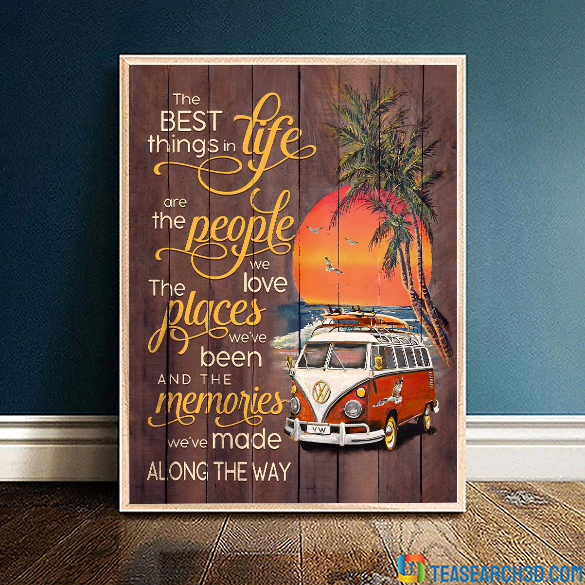 Volkswagen camper the best things in life beach canvas large