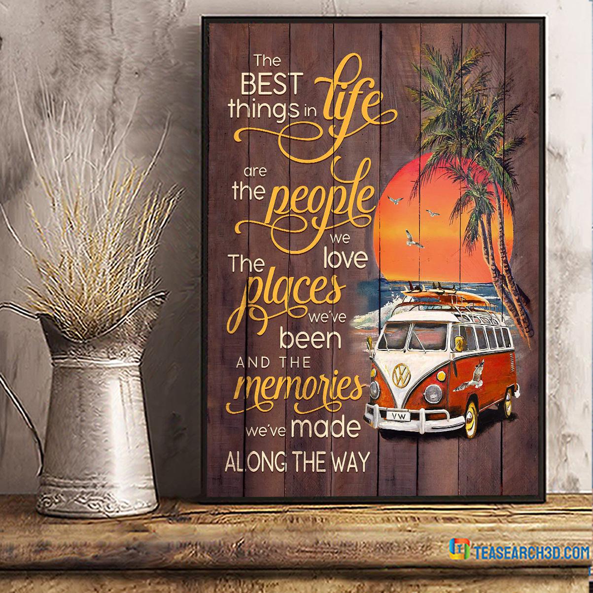 Volkswagen camper the best things in life beach canvas medium