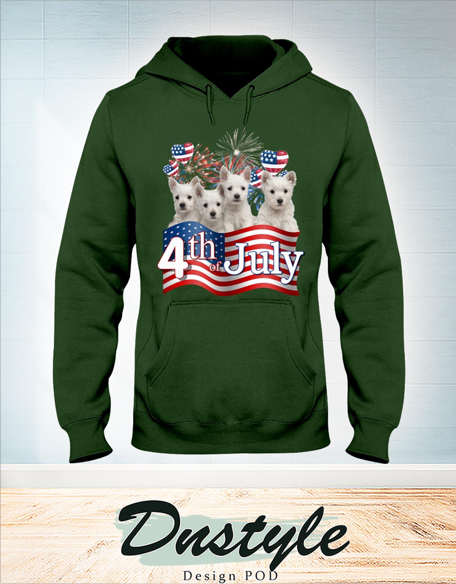 Westie we love america 4th of july hoodie