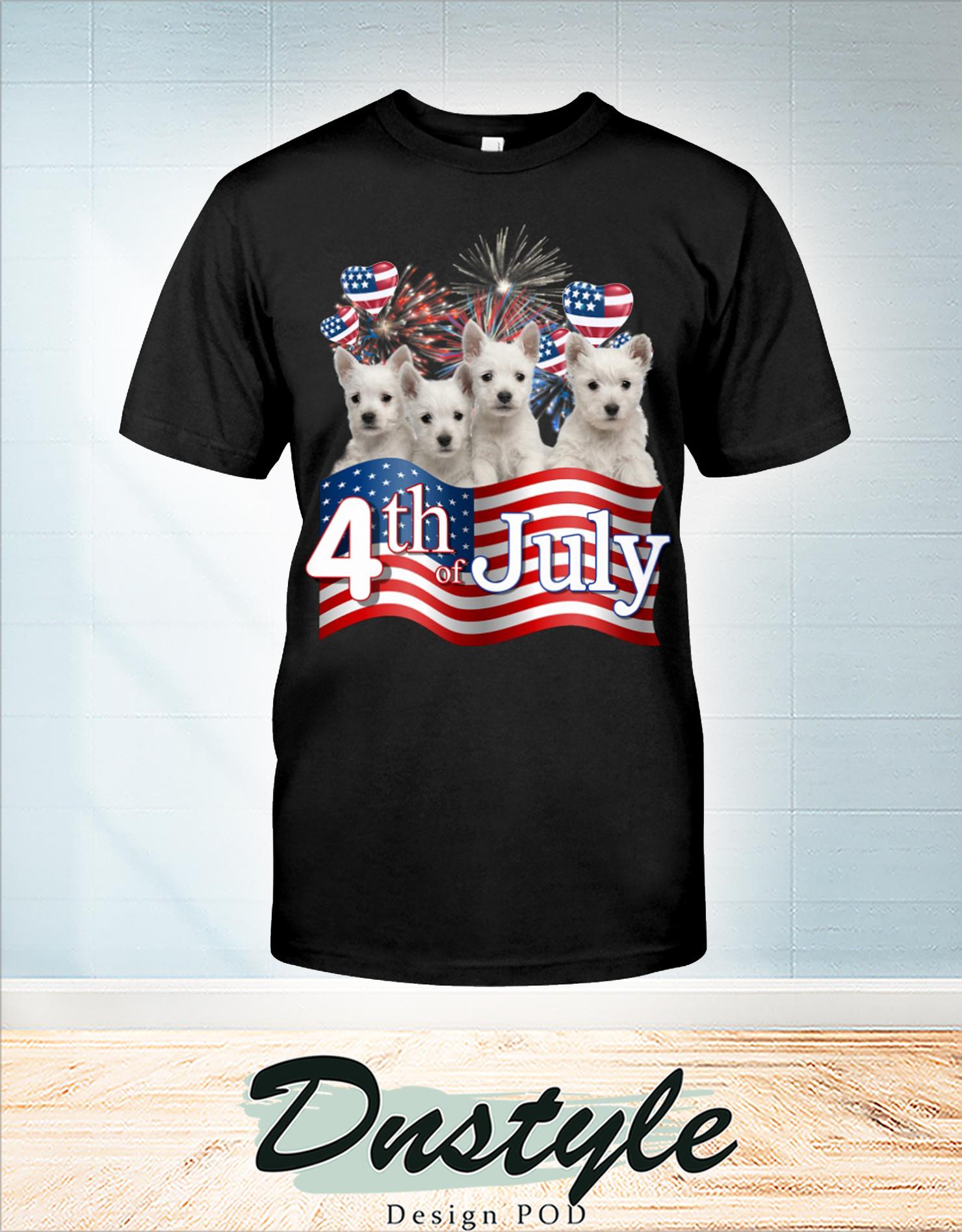 Westie we love america 4th of july t-shirt