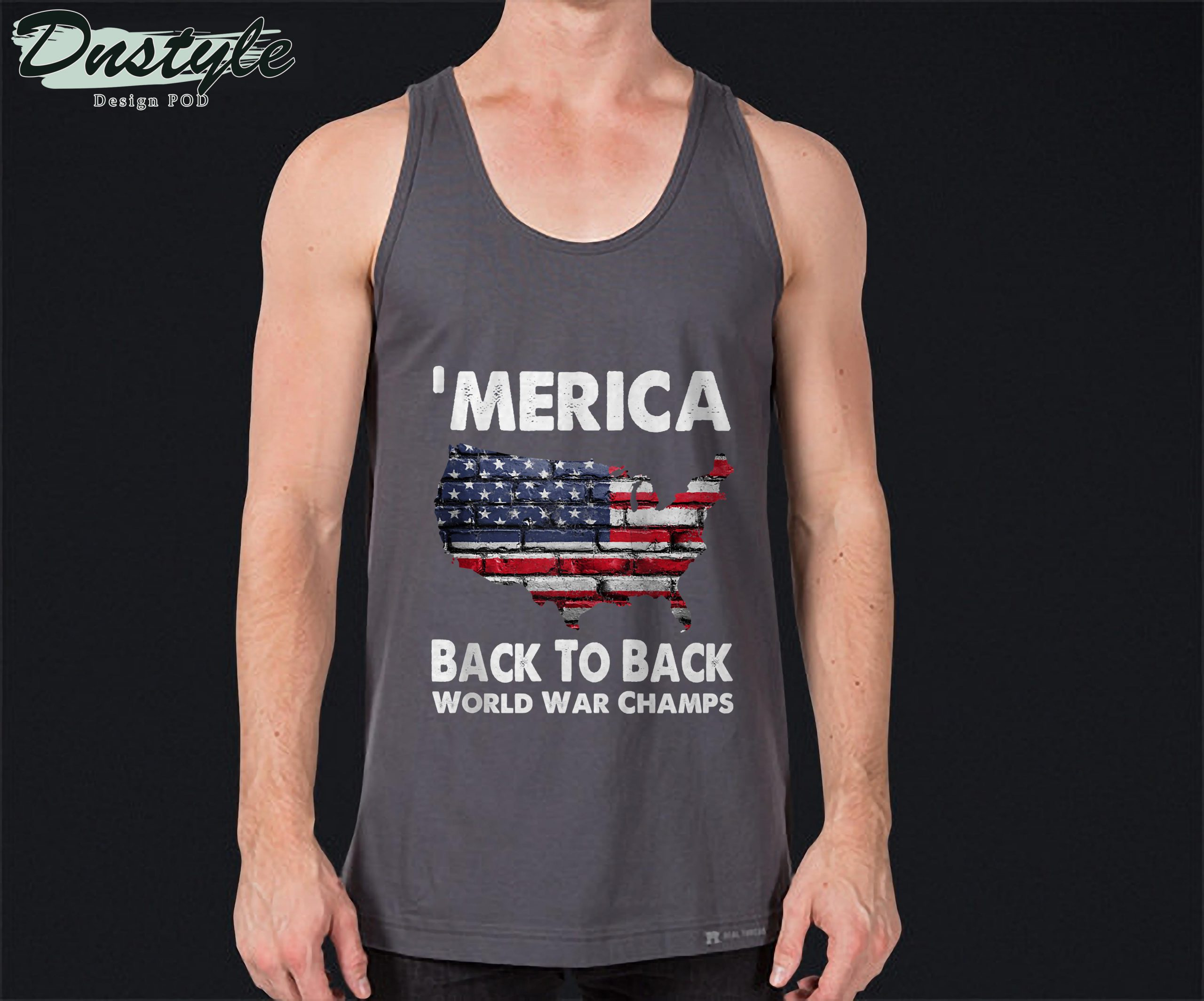 Merica Back To Back World War Champs Tank Top 2