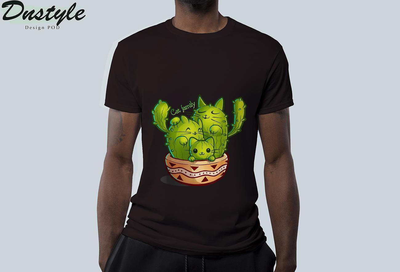 Cat family cactus t-shirt