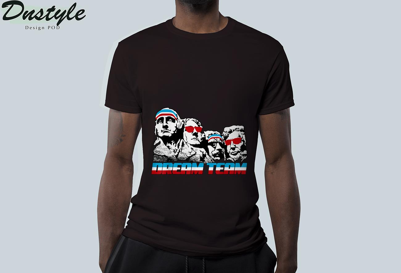 American USA Flag Dream Team Funny Patriotic Retro Vintage T-Shirt