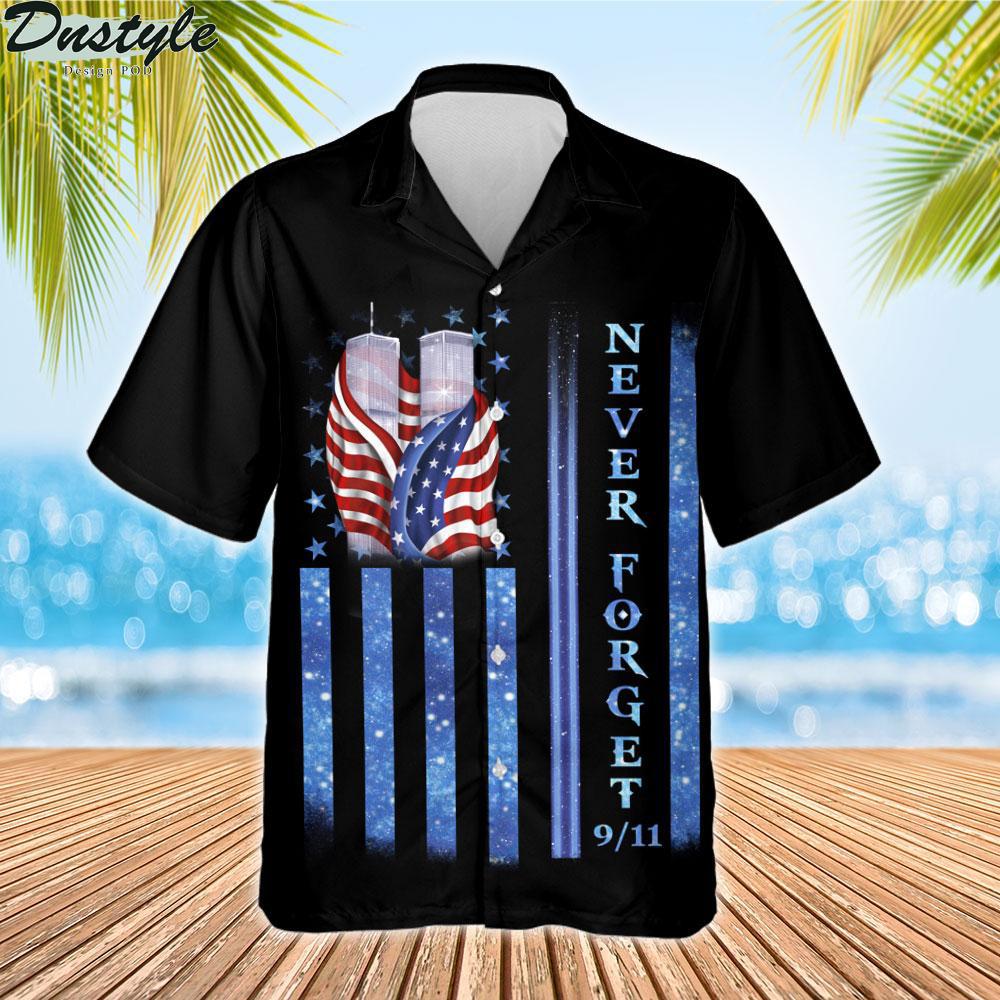 9 11 never forget memorial hawaiian shirt 2