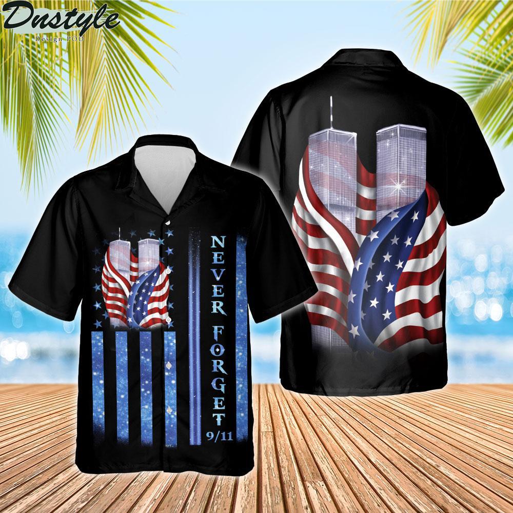 9 11 never forget memorial hawaiian shirt