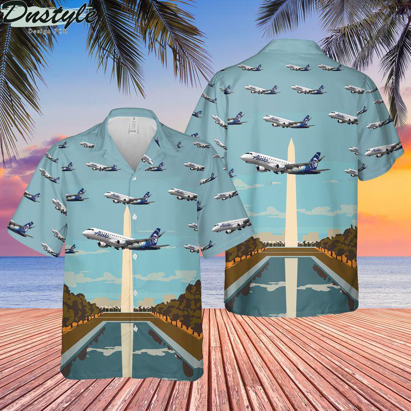 Alaska airlines embraer 175 horizon hawaiian shirt