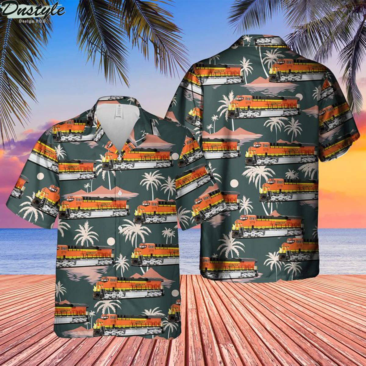 BNSF railway ge tier 4 gevo et44c4 locomotive hawaiian shirt 2