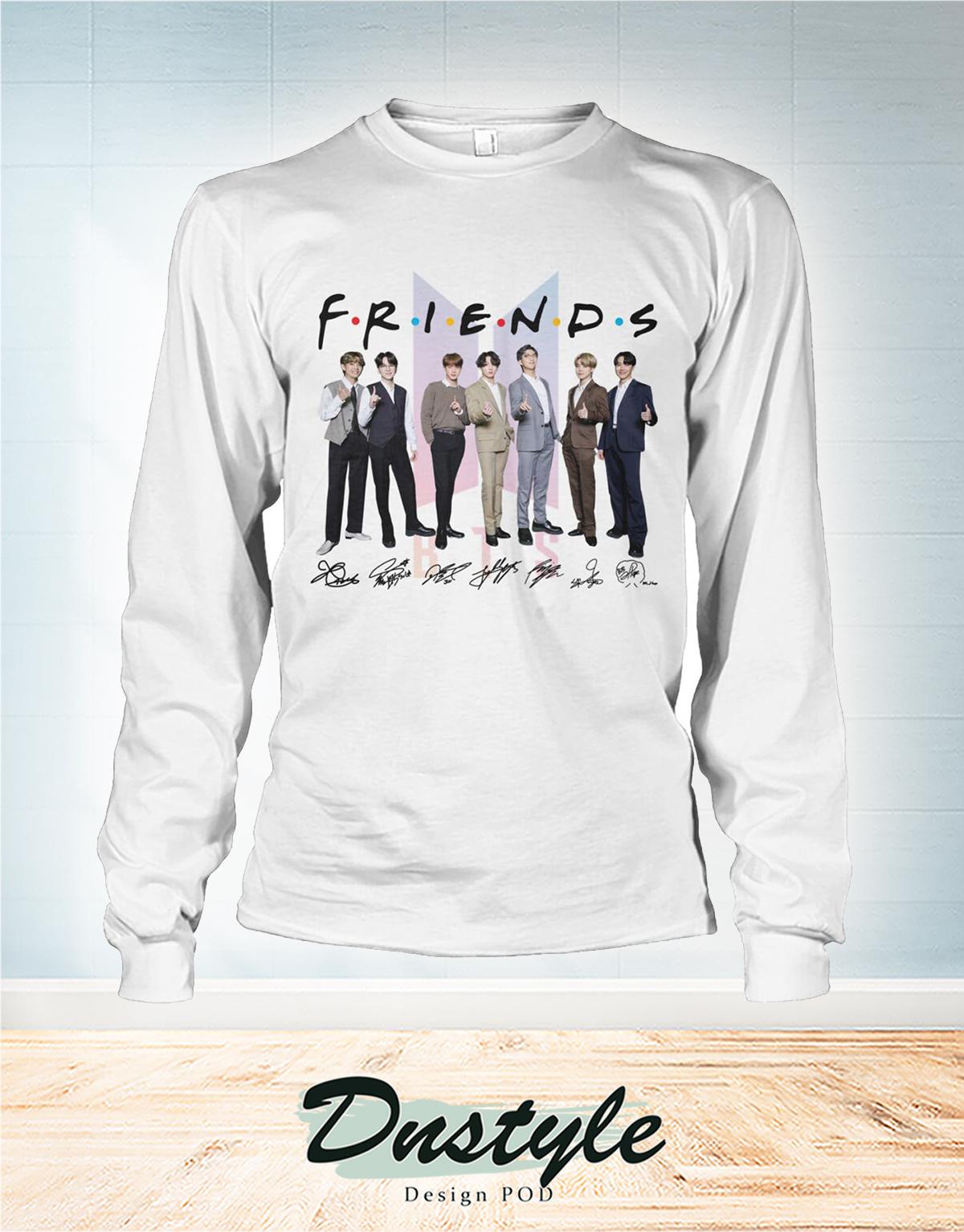 BTS friends signarure long sleeve