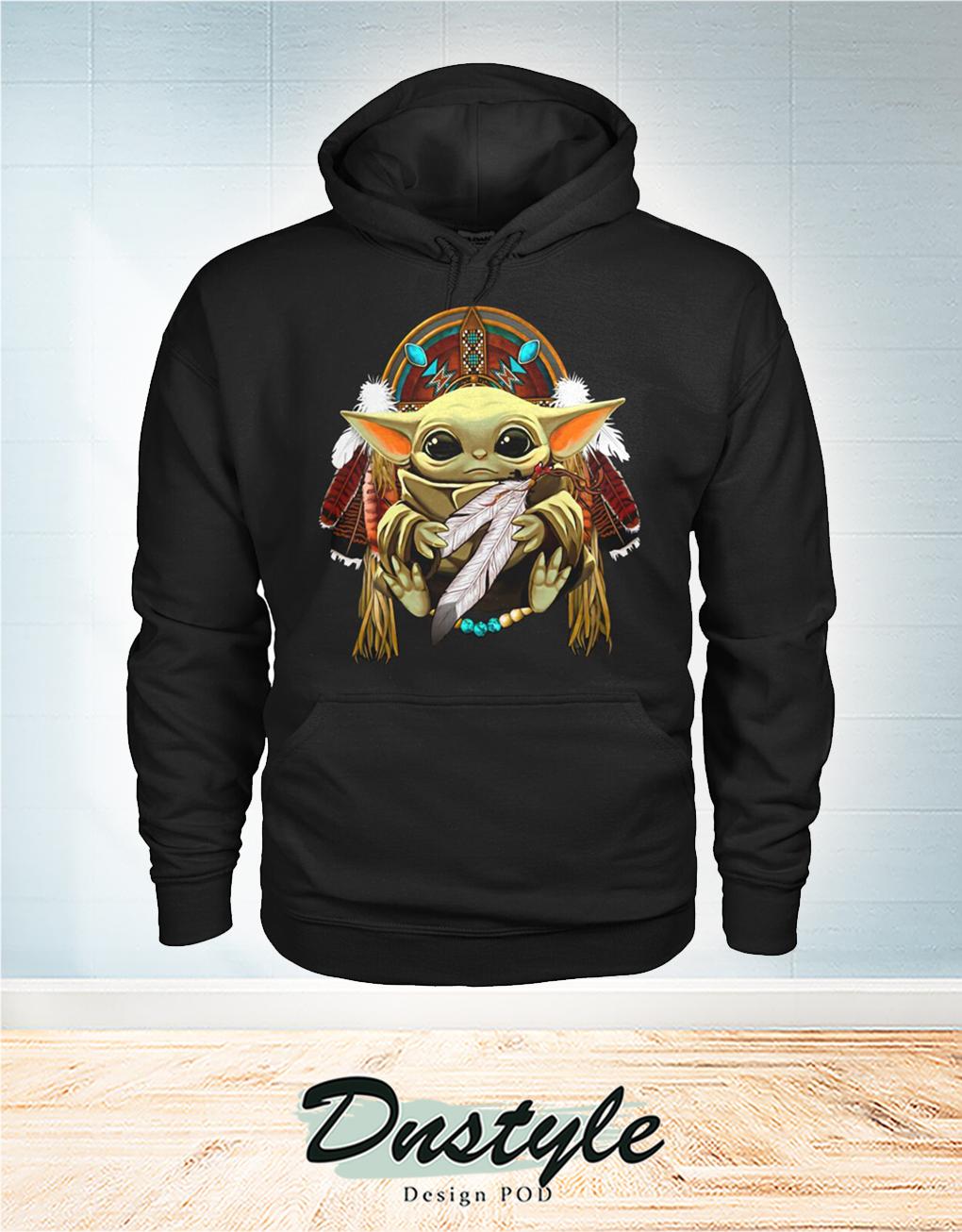 Baby Yoda King American Native Hoodie