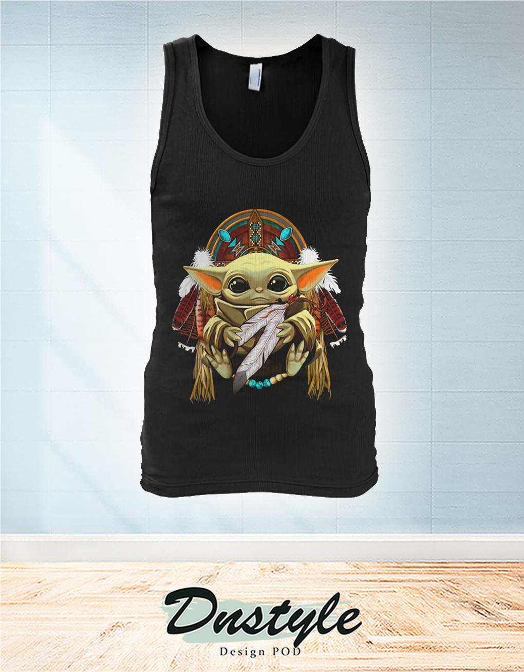 Baby Yoda King American Native Tank Top