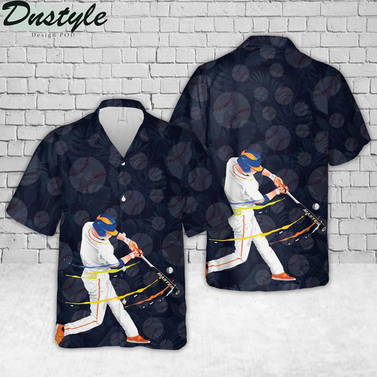 Baseball batter hawaiian shirt 1