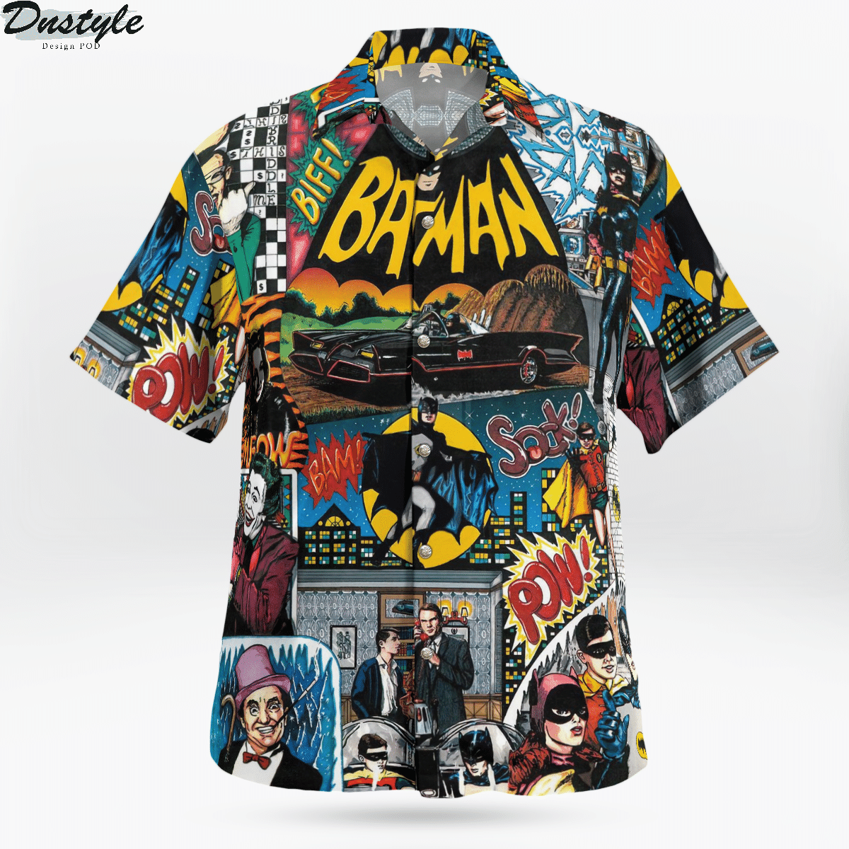 Batman 1966 tv series hawaiian shirt 1