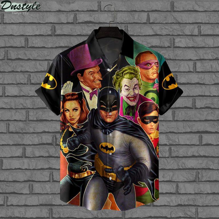 Batman characters DC comics hawaiian shirt