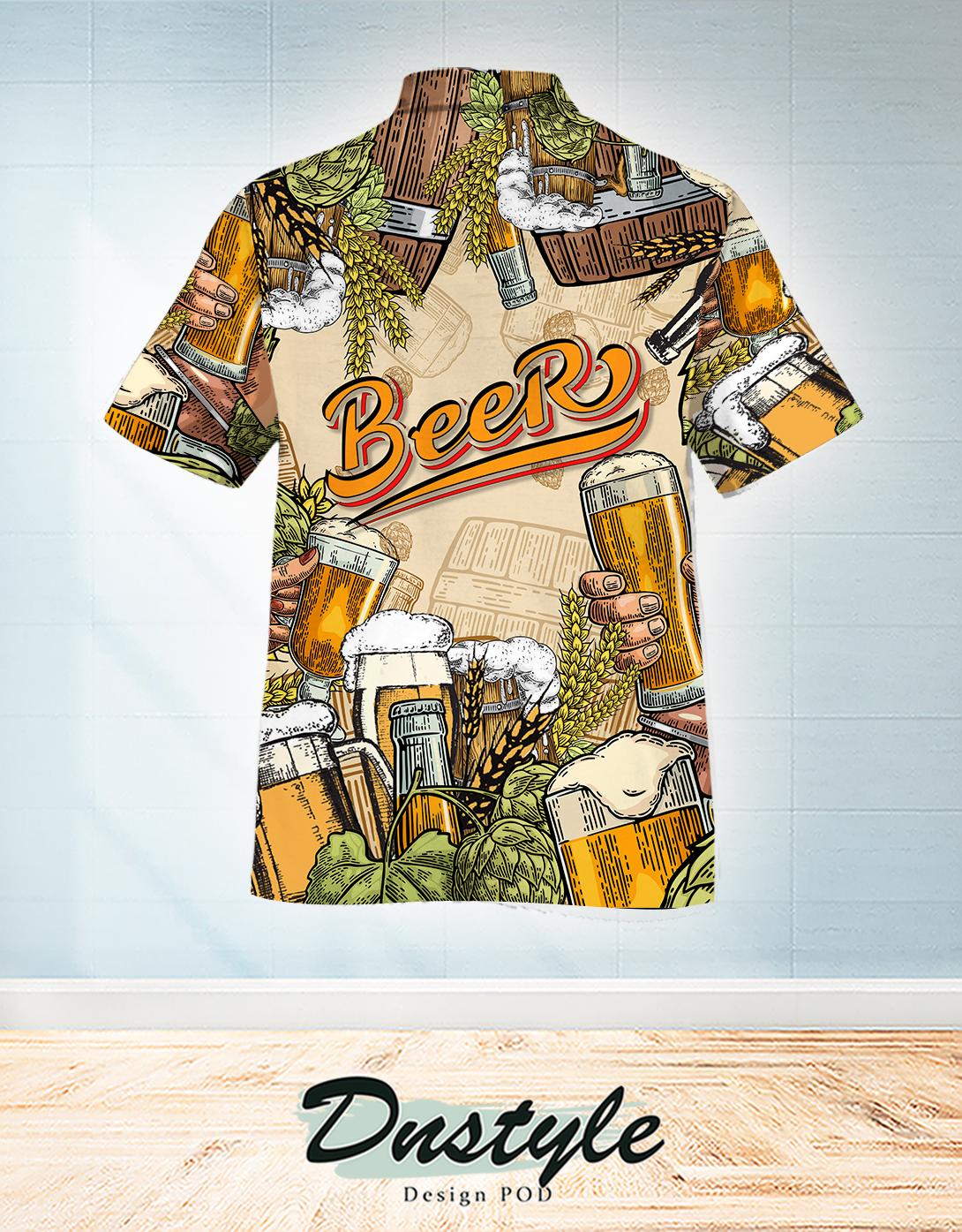 Beer hawaiian shirt 1