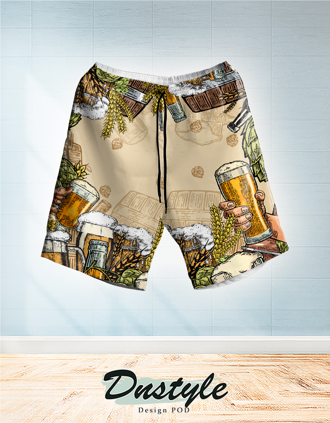 Beer hawaiian short