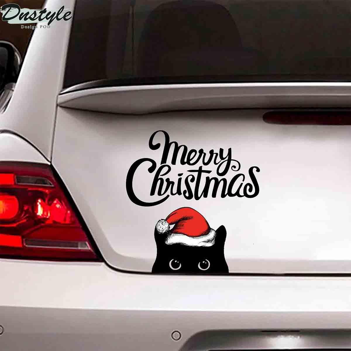 Black cats merry christmas car decal sticker 1