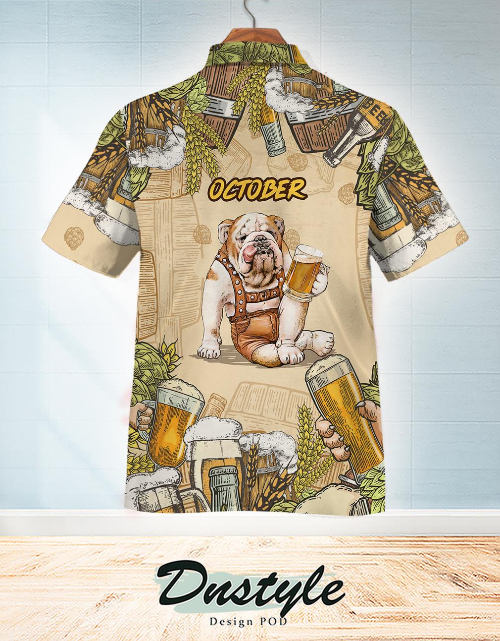 Bulldog beer october hawaiian shirt 1