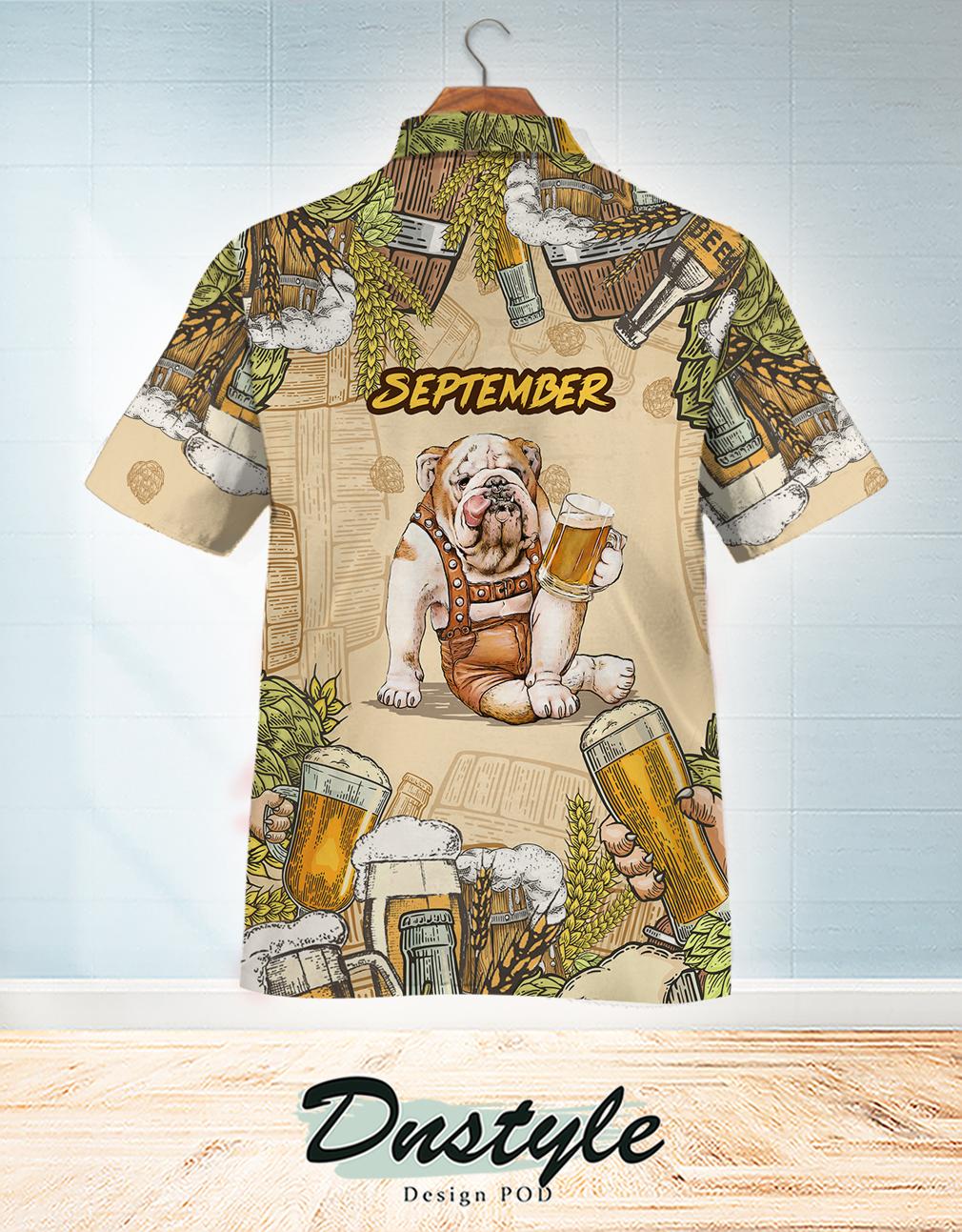 Bulldog beer september hawaiian shirt 1