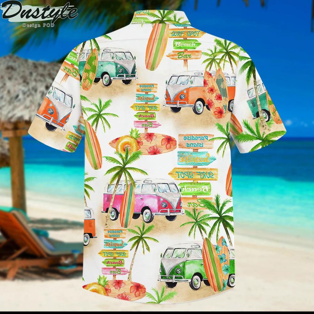 Camper van and beach hawaiian shirt 1