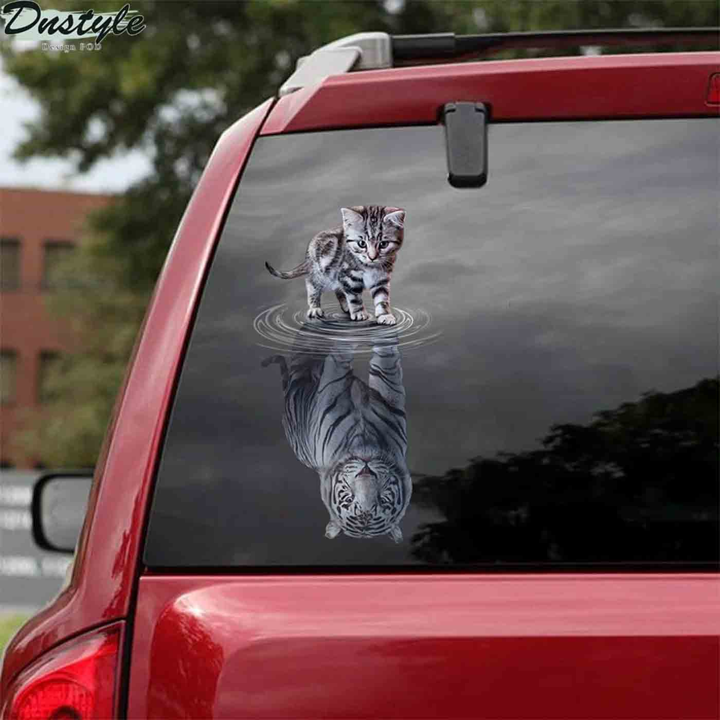 Cats tigers animal cute car decal sticker 2