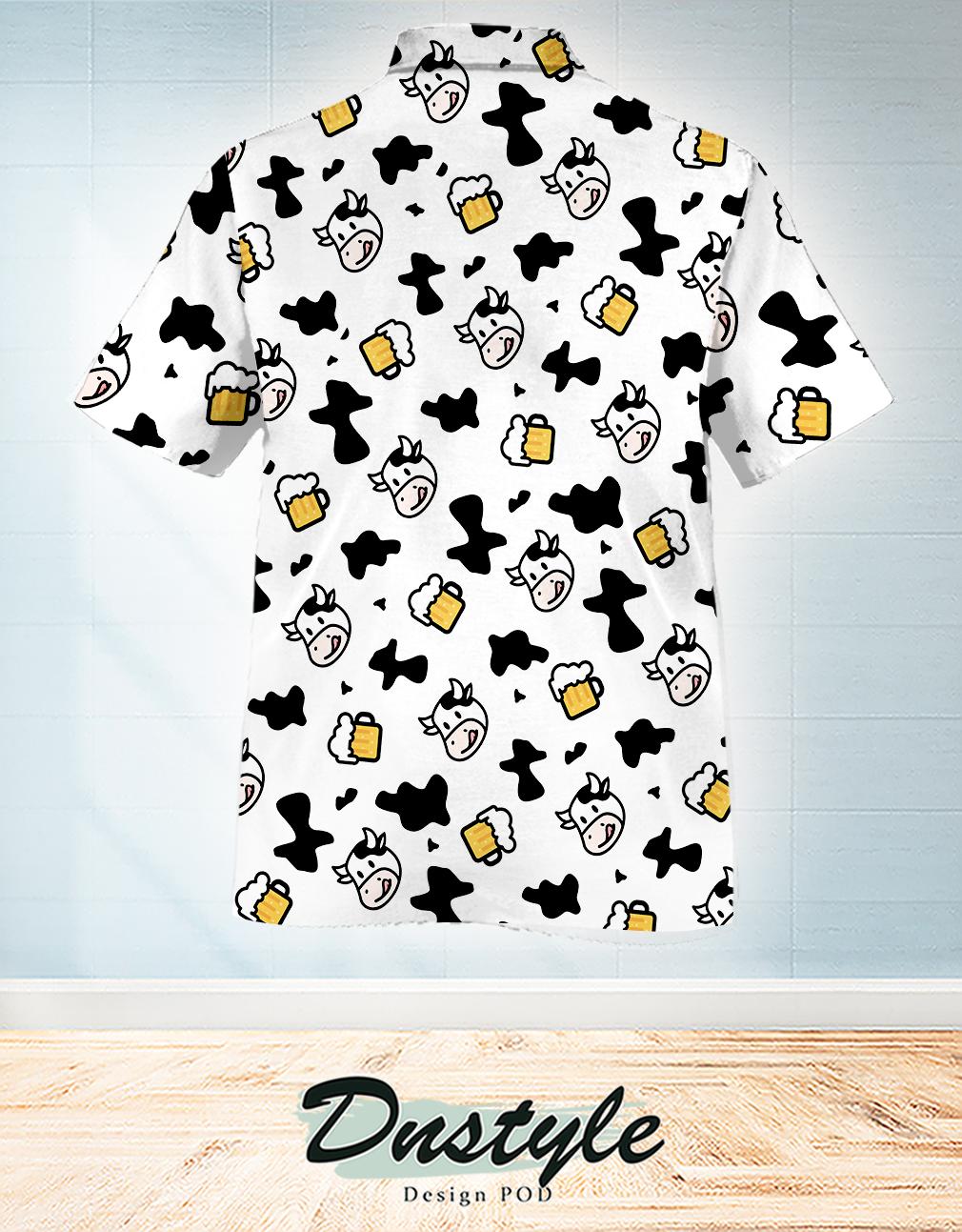 Cow and beer hawaiian shirt 1