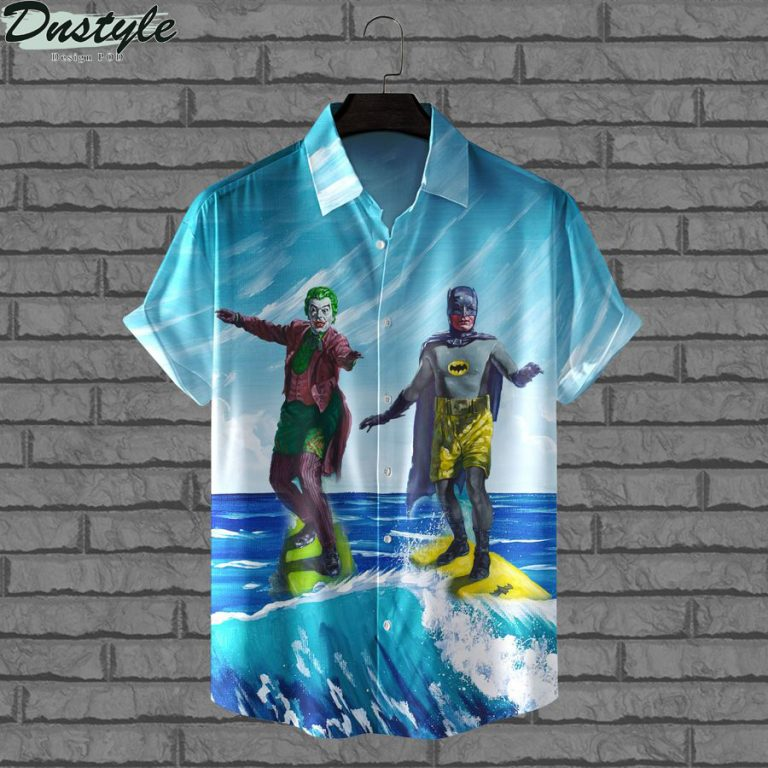 DC Batman and joker surfing hawaiian shirt