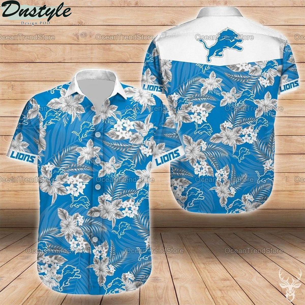 Detroit lions nfl football hawaiian shirt 2