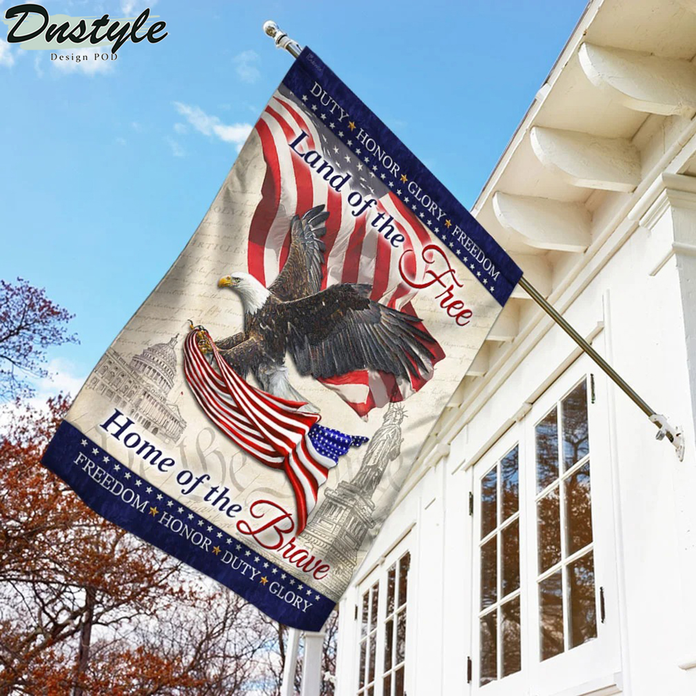 Eagle america flag land of the free home of the brave flag 1