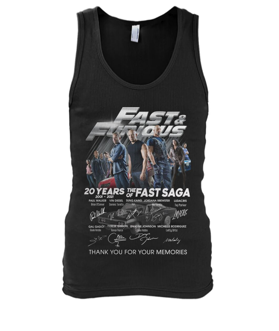 Fast and furious 20 years of the fast saga signature tank top