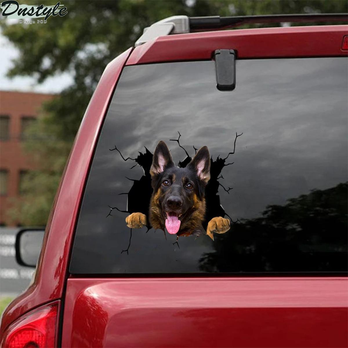 Funny german shepherd sticker car decal 1