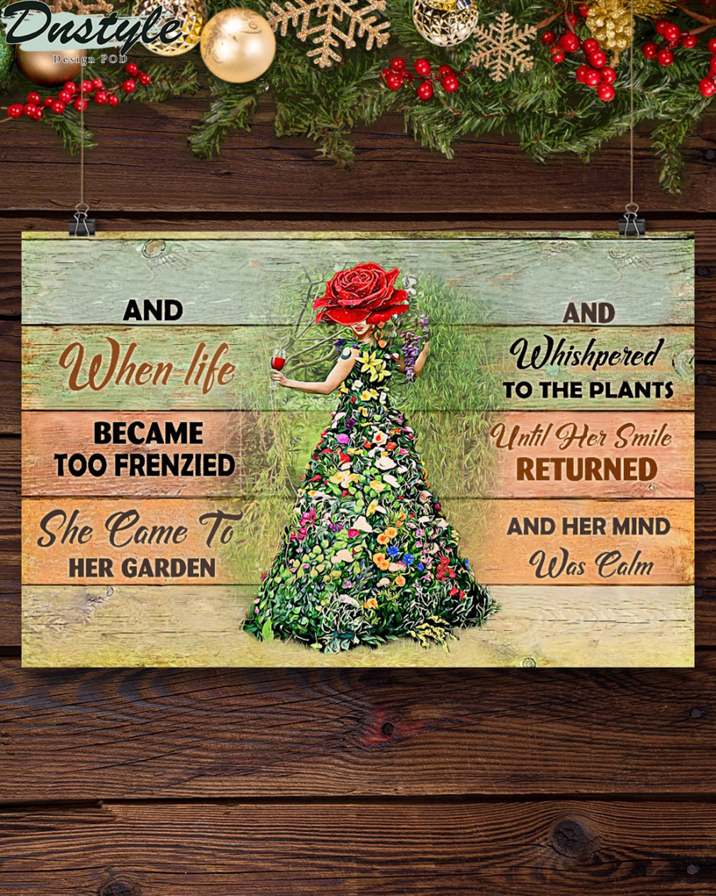 Garden girl and when life became too frenzied poster A1
