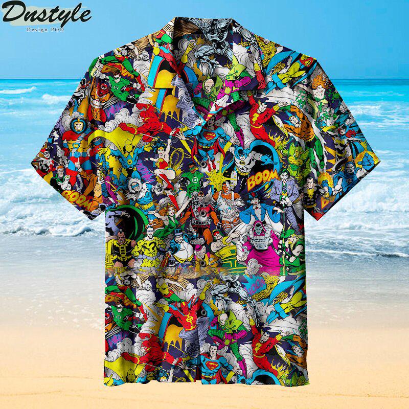 I like superhero comics Hawaiian shirt