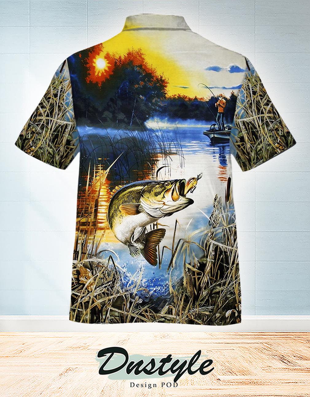 I'd rather be fishing hawaiian shirt 1