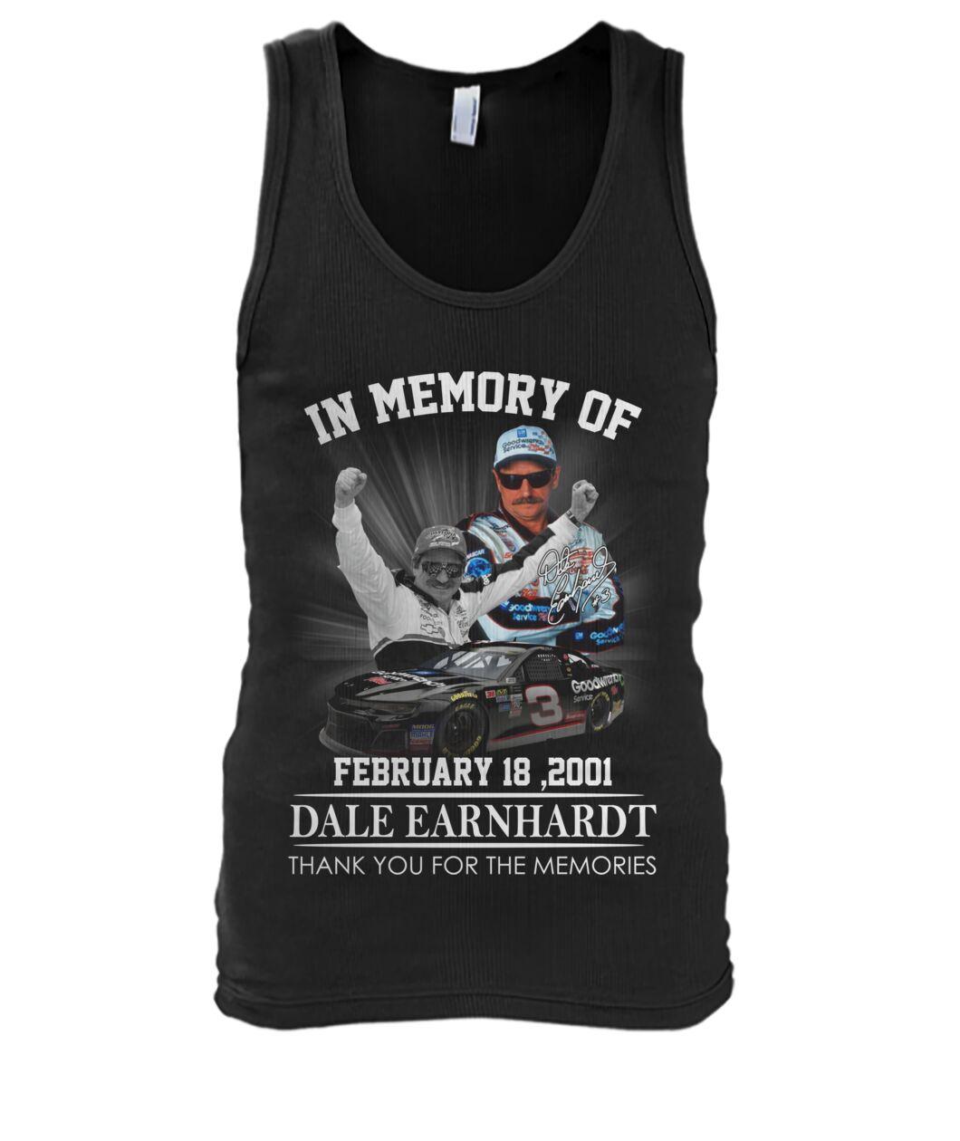 In memory of Dale Earnhardt February 18 2001 tank top