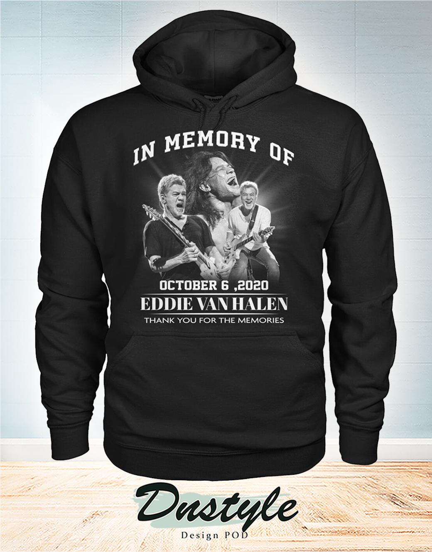 In memory of Eddie Van Halen october 6 2020 hoodie