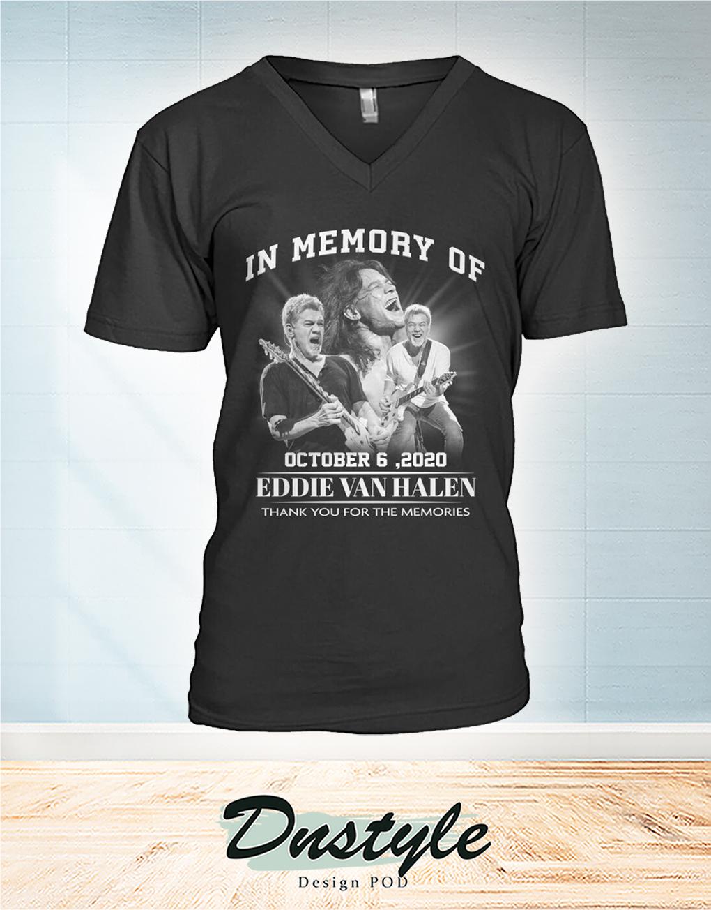 In memory of Eddie Van Halen october 6 2020 v-neck