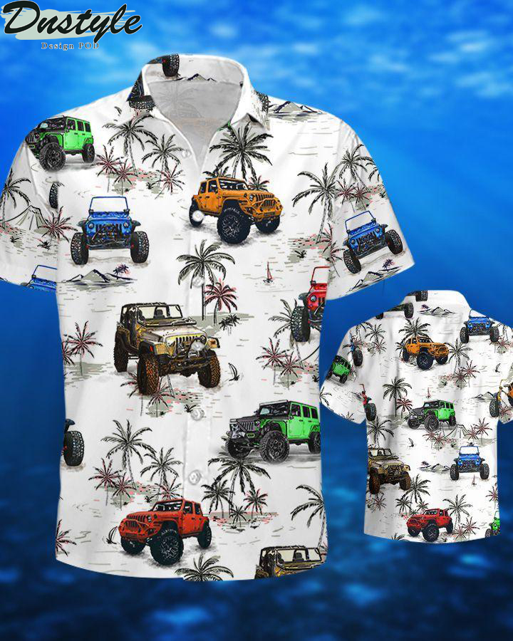Jeeps and beach hawaiian shirt and short