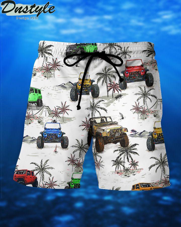 Jeeps and beach hawaiian short