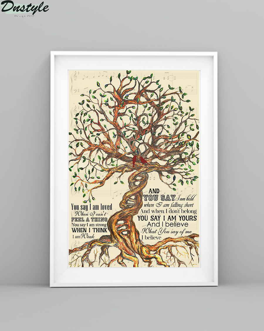 Lauren Daigle You Say Tree Lyrics Poster 1