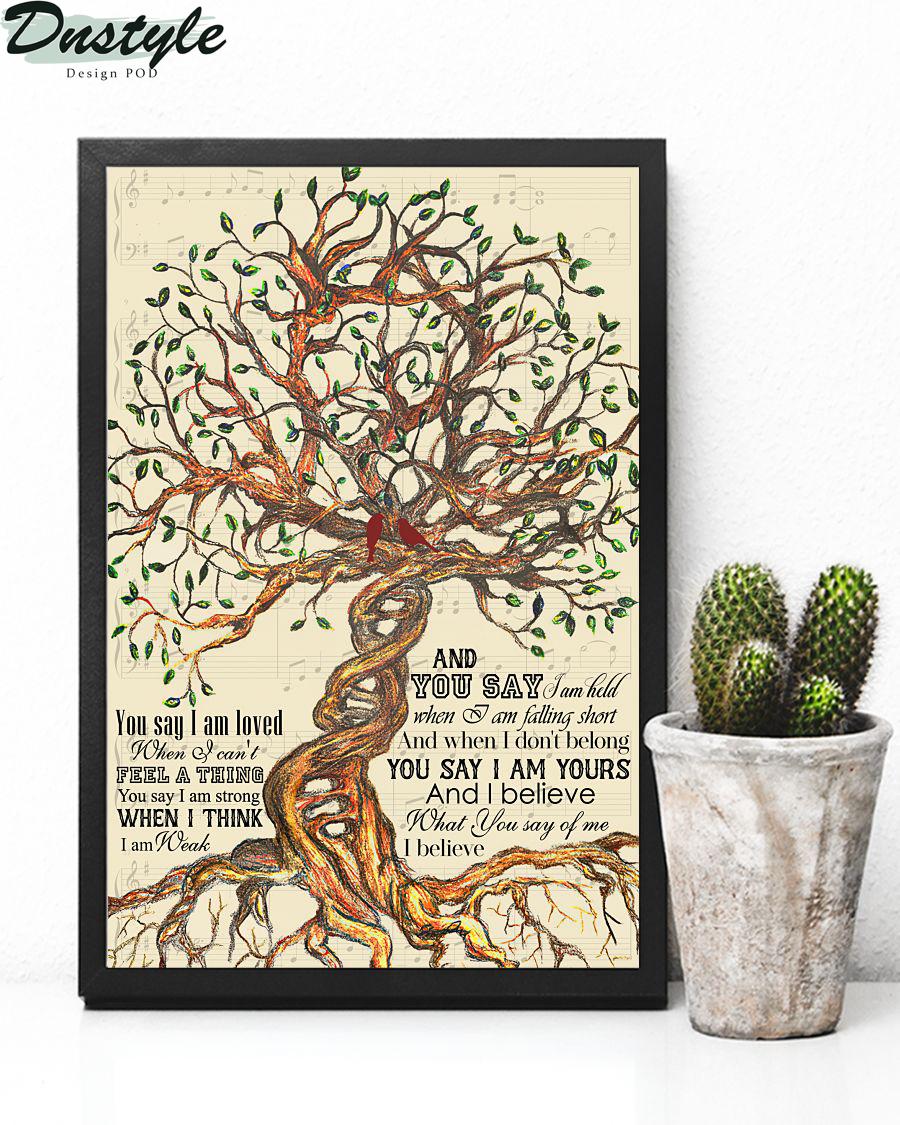 Lauren Daigle You Say Tree Lyrics Poster 2