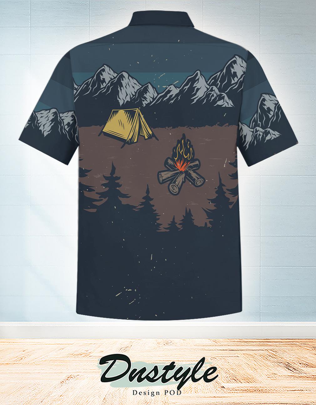 Life is better around the campfire hawaiian shirt 1