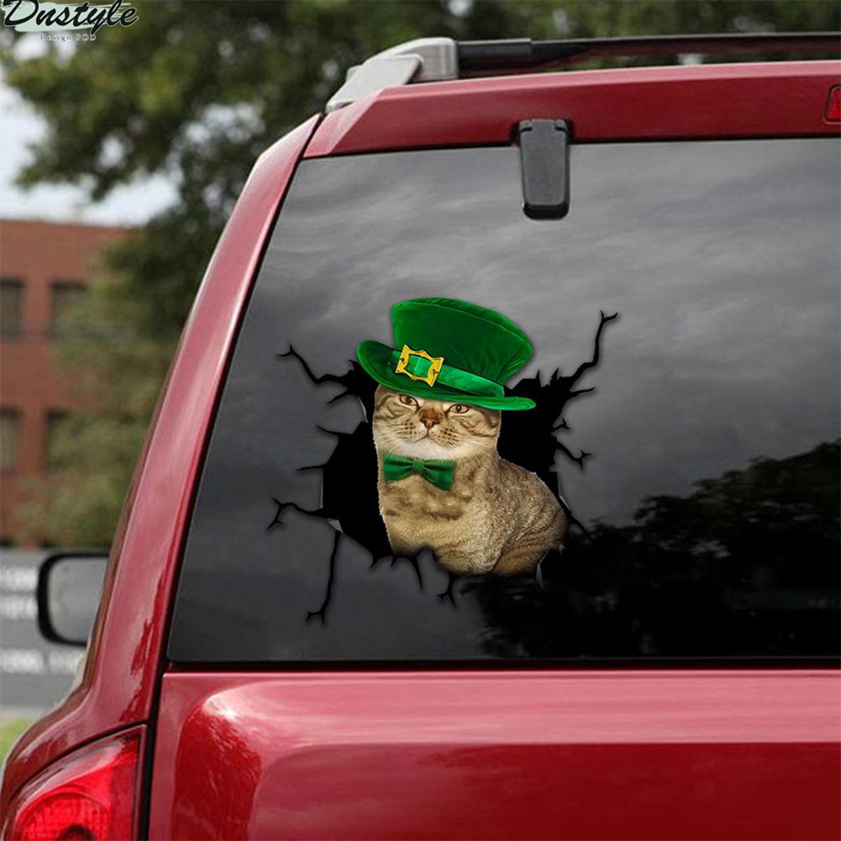 Lucky cat crack car decal sticker 2