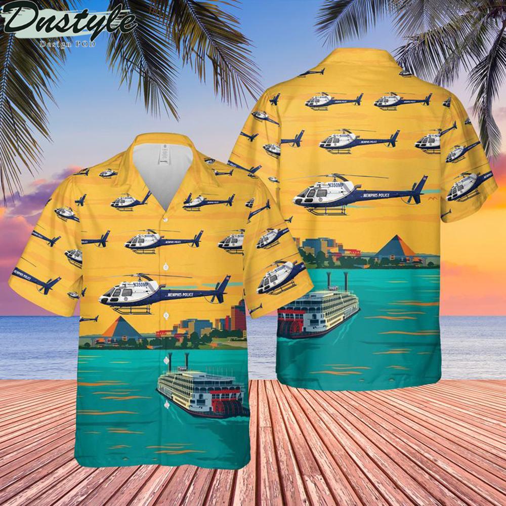 Memphis police airbus as350 b3 air 3 hawaiian shirt