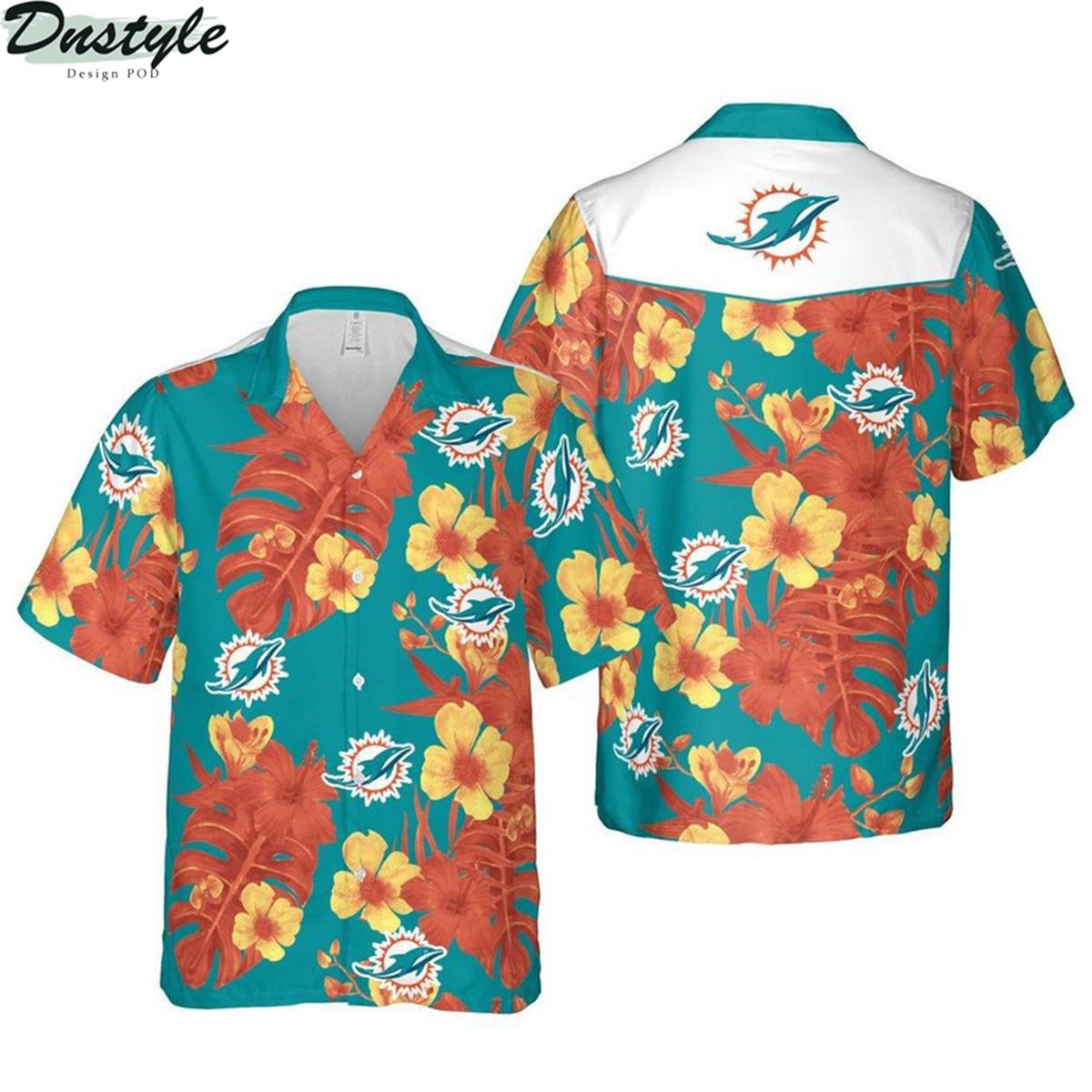 Miami dolphins nfl football hawaiian shirt 2