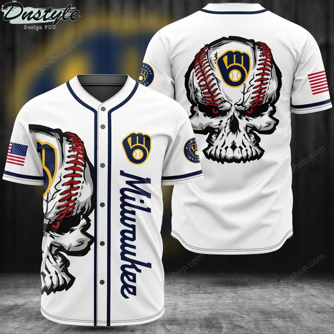 Milwaukee skull baseball jersey 1