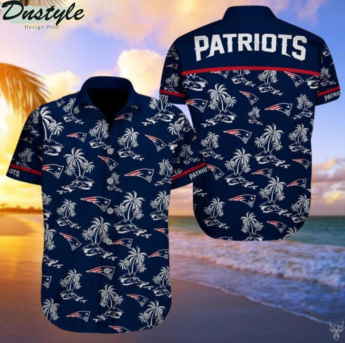 New england patriots nfl football hawaiian shirt 2
