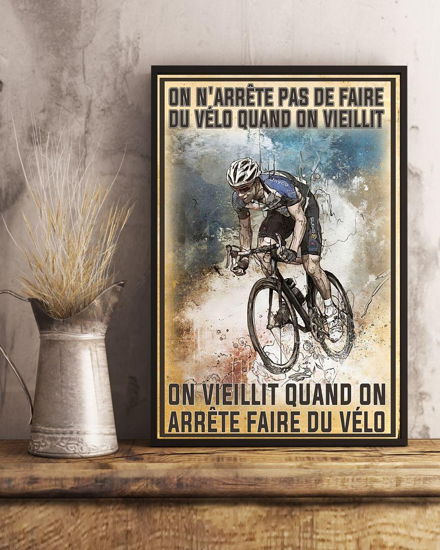 On n'arrête pas de faire du vélo quand on vieillit poster 1