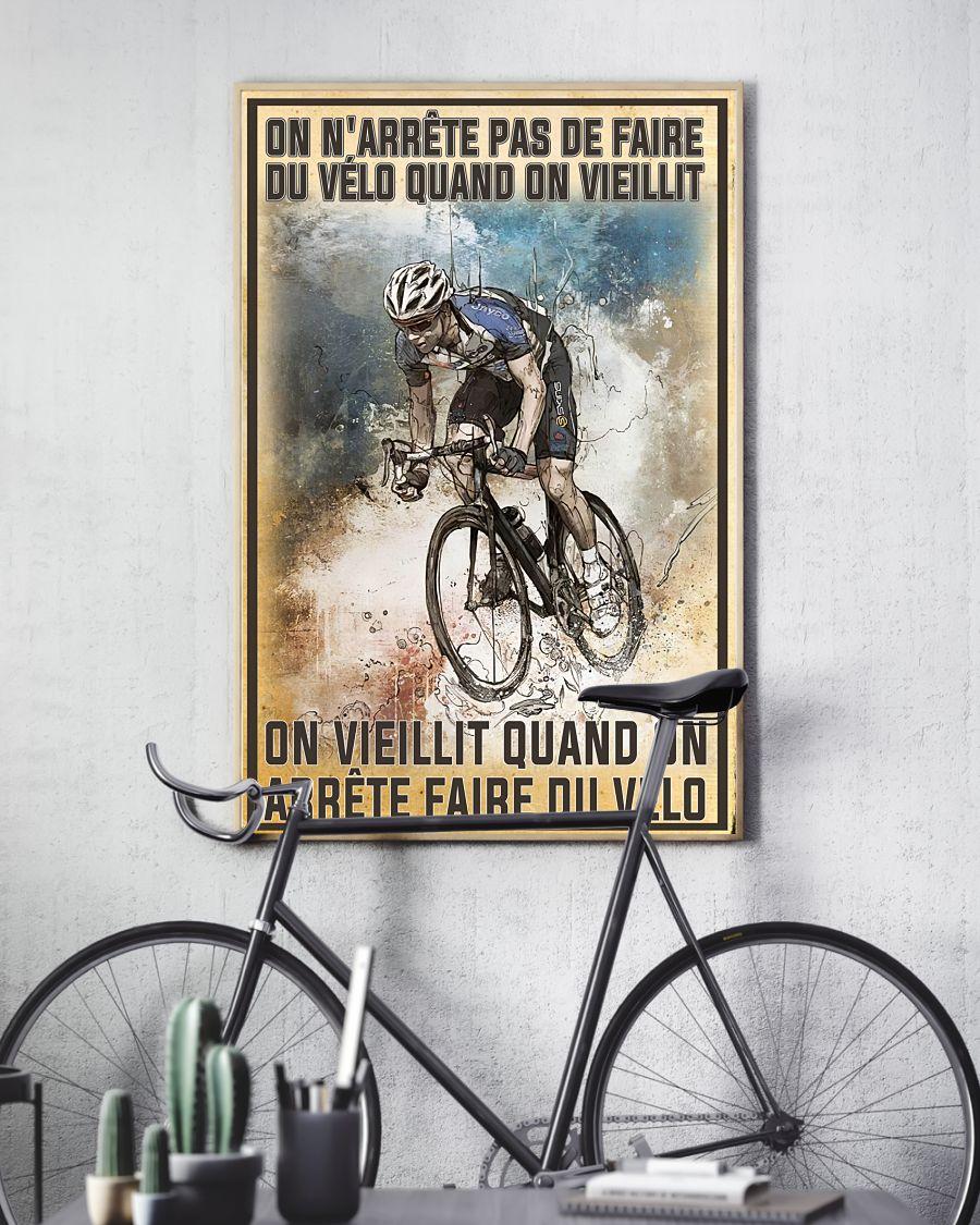 On n'arrête pas de faire du vélo quand on vieillit poster 2