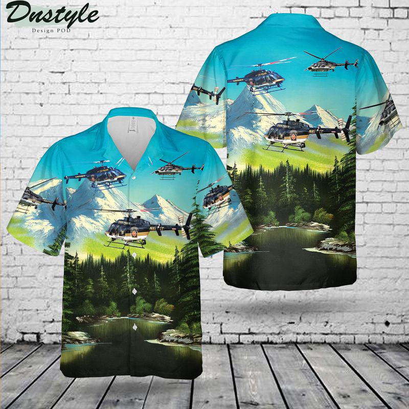 Pennsylvania state police helicopter hawaiian shirt