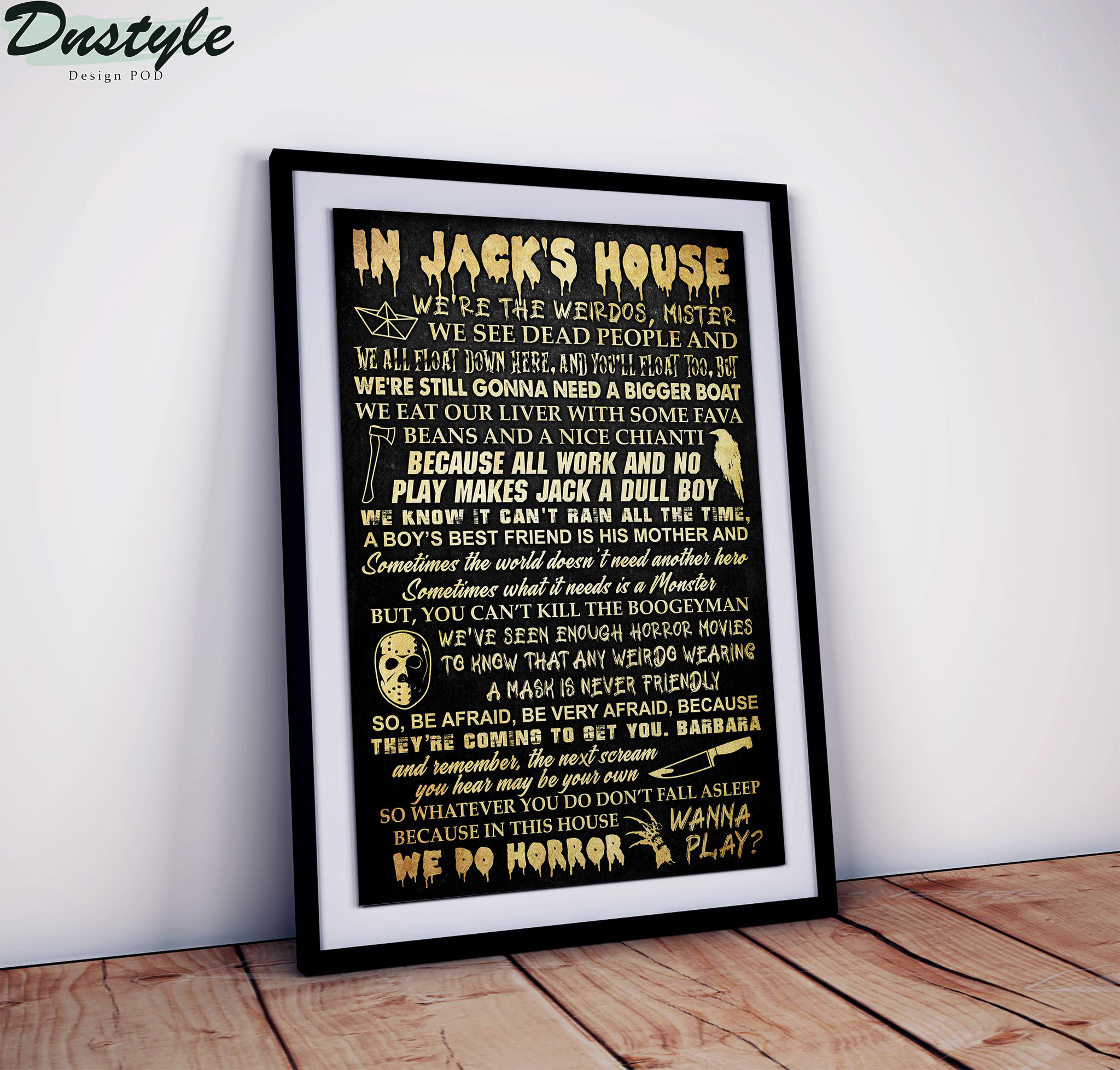 Personalized Custom Name In This House Horror Movie Poster 1